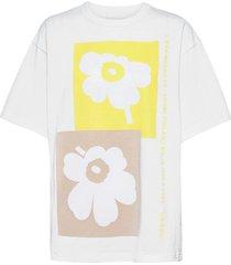 ohje unikko t-shirt t-shirts & tops short-sleeved wit marimekko