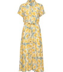 alica dress jurk knielengte geel andiata