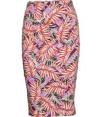 claudette skirt knälång kjol multi/mönstrad guess jeans