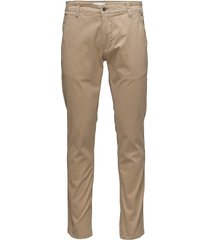 mens stretch chino chinos byxor beige shine original