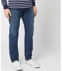 nudie jeans men's steady eddie ii straight jeans - dark classic - w38/l32