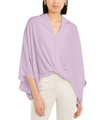 alfani wide-sleeve surplice blouse, created for macy's
