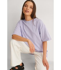 na-kd basic ekologisk oversize t-shirt med rund hals - purple