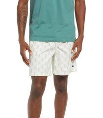 men's brixton jupiter cotton blend hybrid shorts, size x-large - ivory