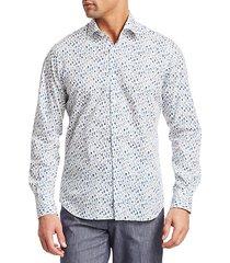 collection circle-print cotton sport shirt