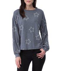 women's bobeau emmanuel french terry sweatshirt
