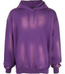 martine rose washed details hoodie - purple