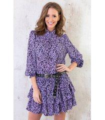leopard blouse lila