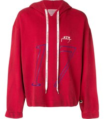 a-cold-wall* pullover hoodie - red