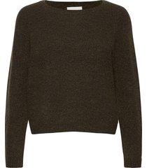 brook knit o-neck stickad tröja brun second female