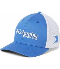 gorra azul vivid marlin columbia pfg mesh
