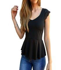 blusa classic negra florencia casarsa