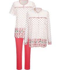 3-delige pyjama harmony ecru::koraal
