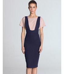 sukienka ołówkowa z szelkami