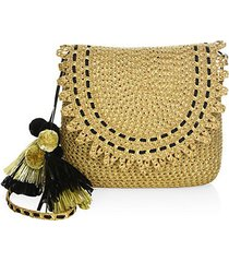 brigitte woven flap shoulder bag