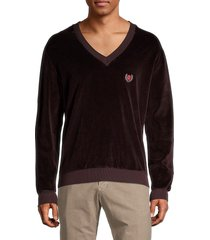 yeezy men's velour sweatshirt - ox blood - size xs