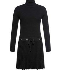 abito in maglia plissettato (nero) - bodyflirt boutique