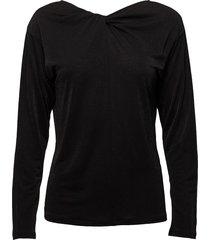 glitter v-neck back top blouse lange mouwen zwart filippa k
