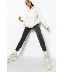 superzachte basic leggings met faux fur voering, charcoal