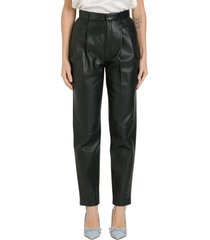 red valentino nappa trousers with pinces