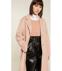 motivi cappotto over sfoderato donna rosa