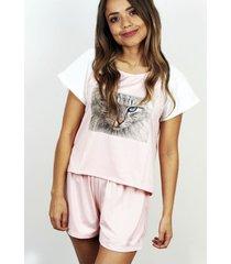conjunto camisa short de mujer kitty pink dimattina