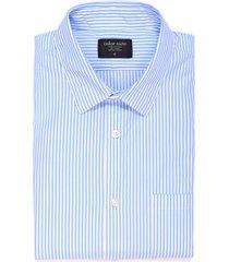 camisa manga larga thompson color siete para hombre - azul