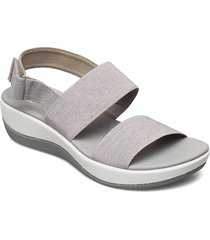 arla jacory shoes summer shoes flat sandals grå clarks