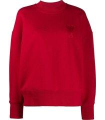 ami ami de coeur sweatshirt - red