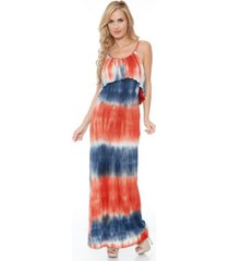 white mark women's kaleatie dye overlay maxi dress