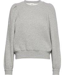 carmella sweat sweat-shirt tröja grå second female