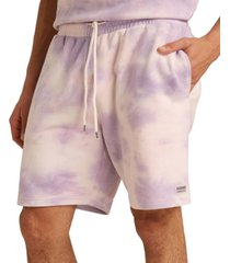 guess men's originals kit classic-fit tie-dyed french terry shorts