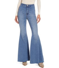 free people float on flare jeans, size 27 in love letters at nordstrom