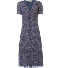 michael michael kors bloom pf sleeve midi dress
