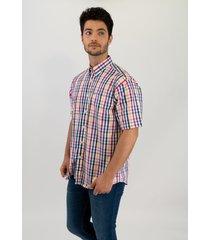 camisa multicolor pato pampa corte basico manga corta cuadros