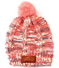 gorro de lana arrayan rosa niba