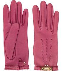 hermès pre-owned door knocker plaque gloves - pink