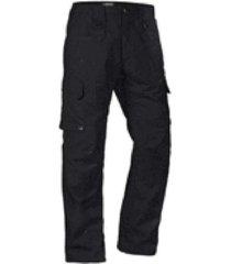 monos de casual de hombres de color sólido exterior táctico pantalones monos de moda-negro