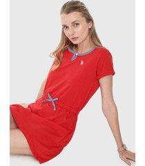 vestido rojo-azul us polo assn