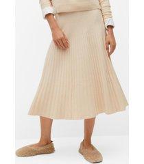 mango women's pleated knit skirt