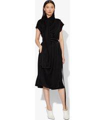proenza schouler short sleeve scarf dress black 2