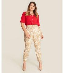 pantalon mujer clasico estampado