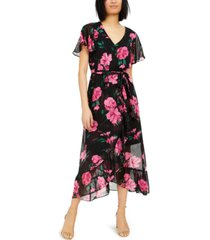 inc floral wrap maxi dress, created for macy's