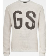 g-star raw men's structured knit sweater