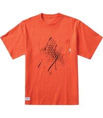 x wtaps short sleeve t-shirt, mandarin red