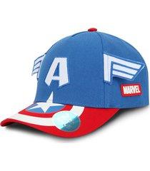gorra capitan américa marvel original traje azul oc caps