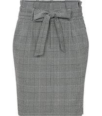 kjol vmeva hr paperbag short check skirt
