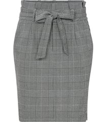 kjol vmeva hr paperbag short check skirt