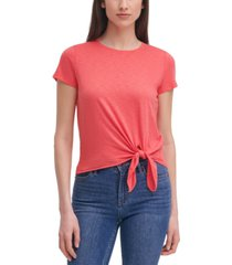 calvin klein tie-front t-shirt