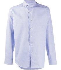 canali micro-geometric woven shirt - blue